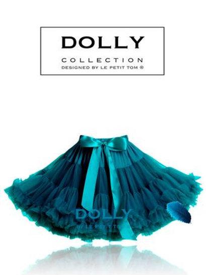 DOLLY BY LE PETIT TOM ® BLUE BIRD PETTISKIRT emerald