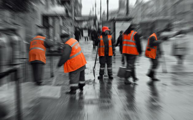 Female Street Clearers