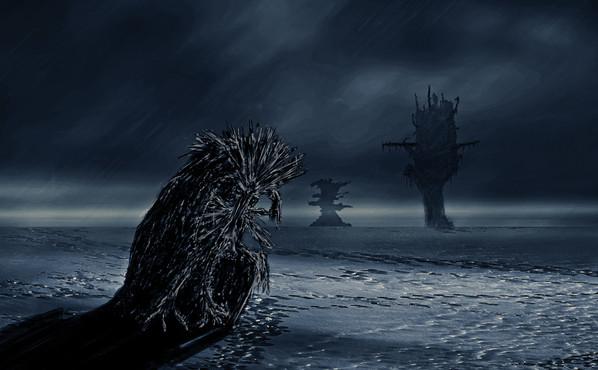 Creature on Ice Planet