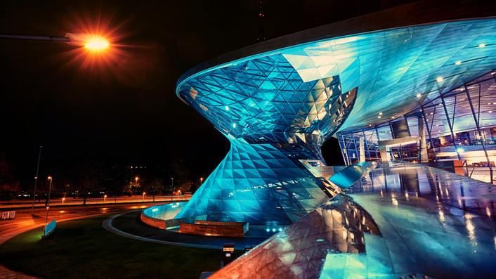 BMW World at Night