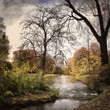 Calm Waters in English Garden Munich (Germany)