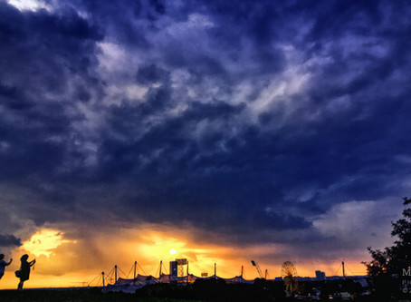 Sunset Photography at Olympic Park Munich