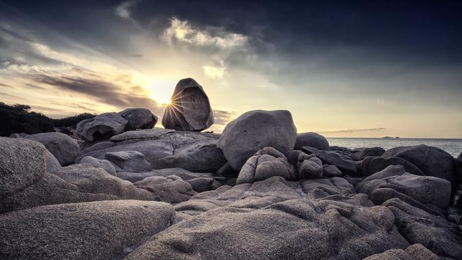 Morning Mood at the Beach of Tamaricciu (Corse)