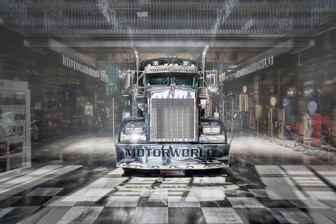 Kenworth truck exhibited at Motorworld Munich