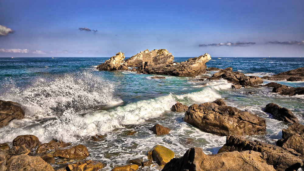 Zarautz Beach, Biscaya, Spain