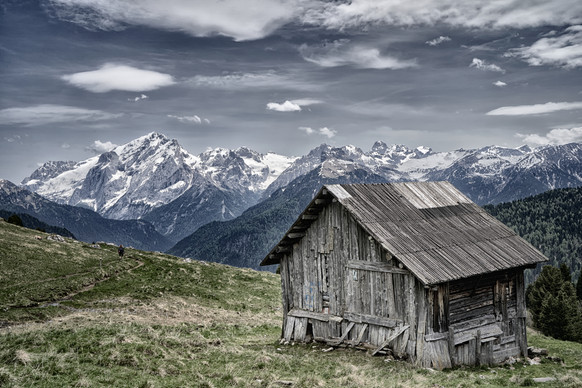 Mountain Hut in the Dolomites (Italy)