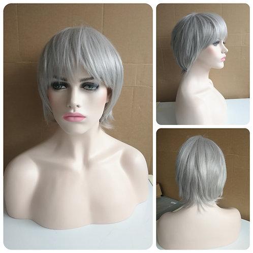 25 cm light gray wig
