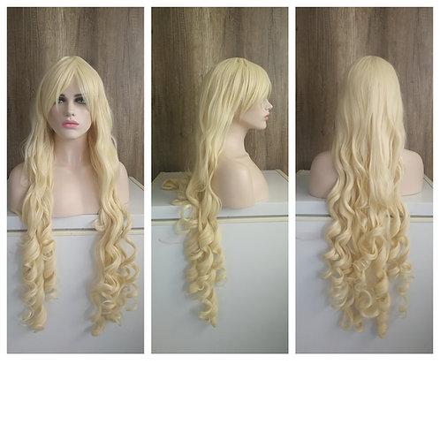 110 cm light blonde curly wig