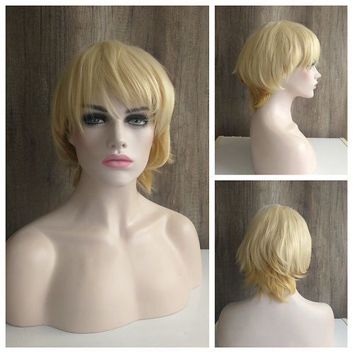 30 cm mixed golden blonde wig