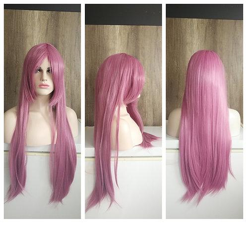 80 cm creamy bubblegum pink wig