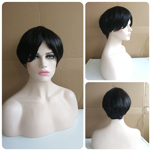 25 cm black wig