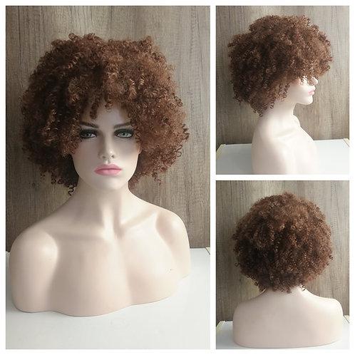 40 cm kinky curly brown wig