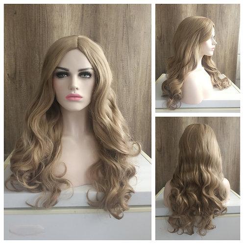 75 cm wavy ashy beige blonde wig