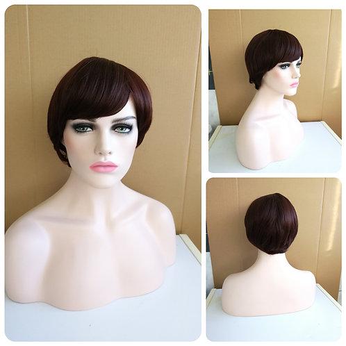 25 cm chestnut brown wig