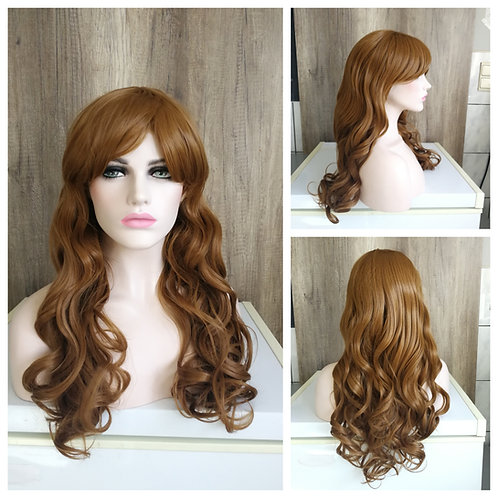 70 cm loose curls light brown wig