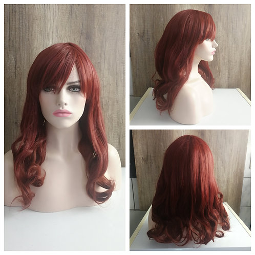 55 cm Brick brown wig