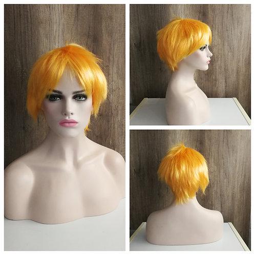30 cm bright light orange wig