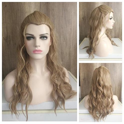 60 cm styled medium beige blonde wig