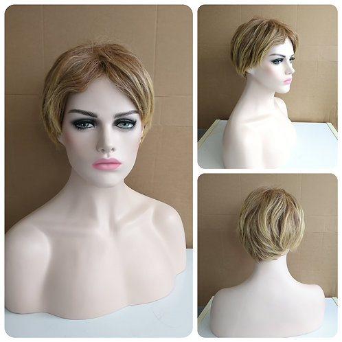 25 cm mixed blonde wig