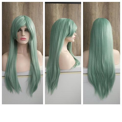 70 cm pastel green wig