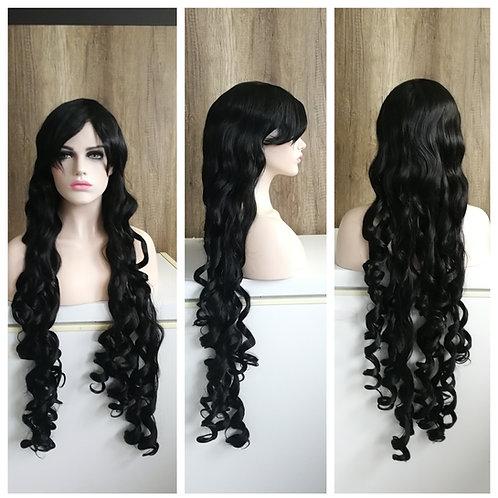 110 curly black wig
