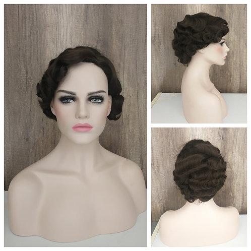 20 cm finger curl brown wig