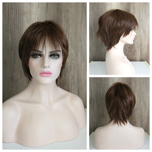 25 cm chocolate brown wig