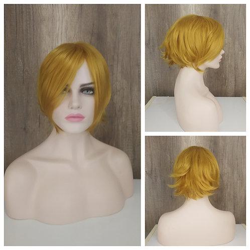 30 cm bright golden blonde wig