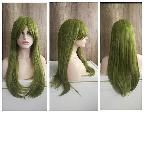 70 cm moss green wig