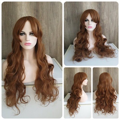 80 cm toffee brown wavy wig