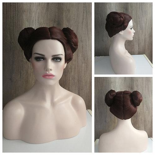 25 cm princess Leia cosplay wig