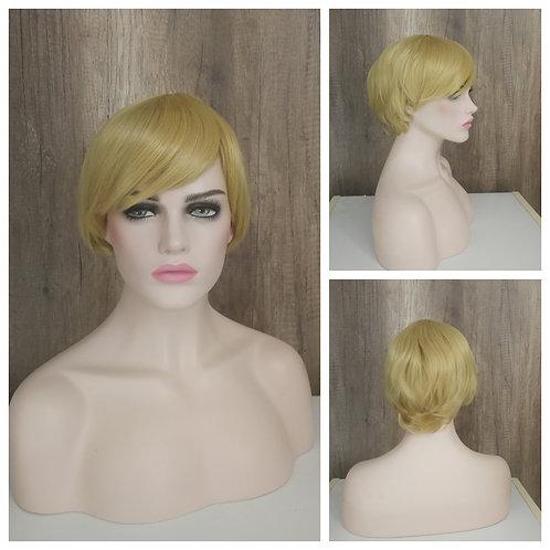 25 cm medium golden blonde wig