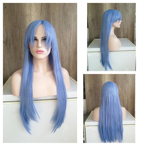 80 cm sky blue wig