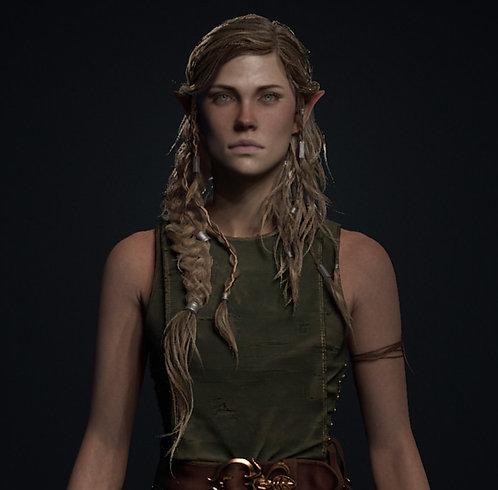 Elf Wip 6 - custom wig