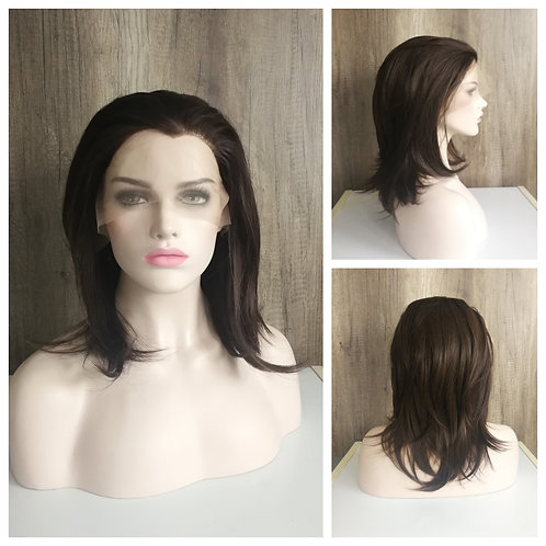 40 cm chocolate brown lace front wig