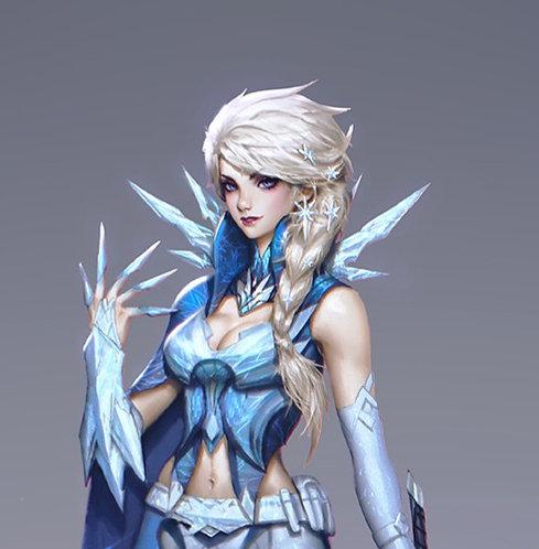 Jedi Elsa wig commission