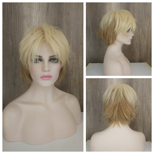30 cm light/ flaxen blonde layered wig