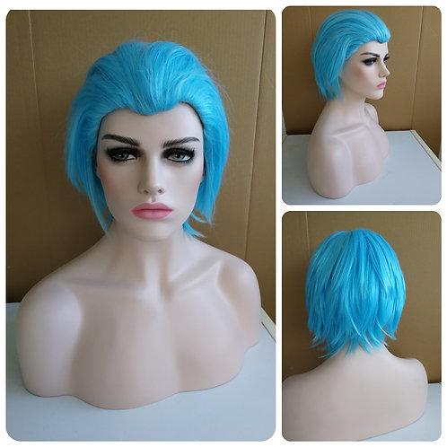30 cm Turquoise no bangs wig