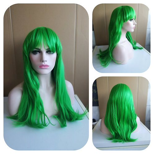 60 cm green wig