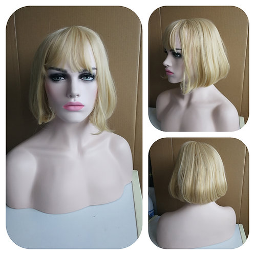 35 cm bob style golden blonde wig