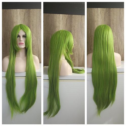 light mixed green 100 cm wig