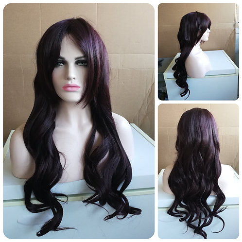 75 cm reddish brown wig