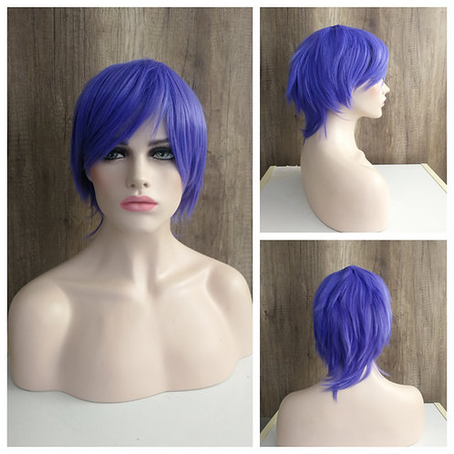 30 cm purplish blue wig