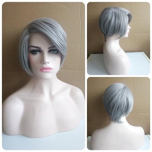 30 cm light gray wig