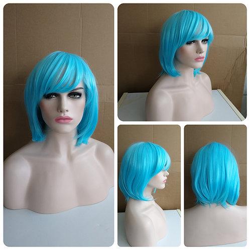 40 cm bob style turquoise wig