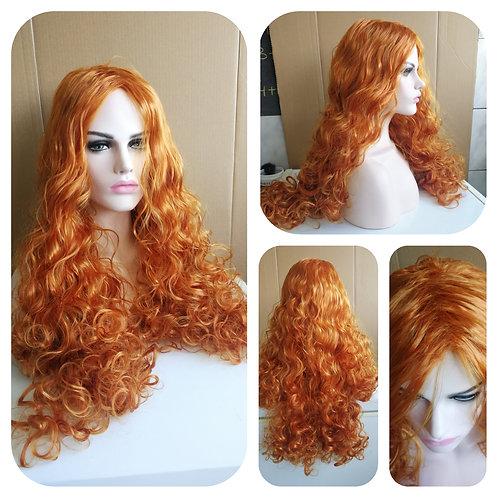 75 cm Ginger orange curly wig