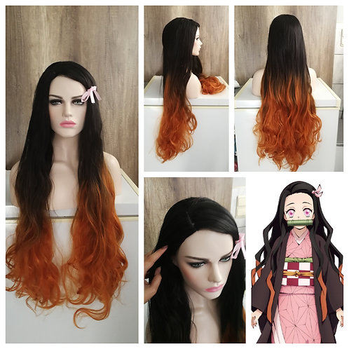 Nezuko - Demon Slayer custom made wig