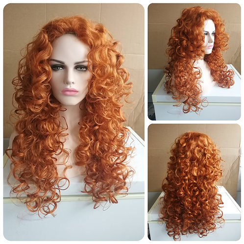 75 cm curly gingner Merida wig