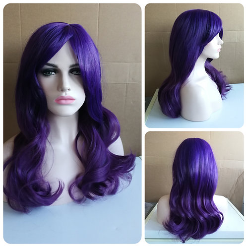55 cm mixed purple wig
