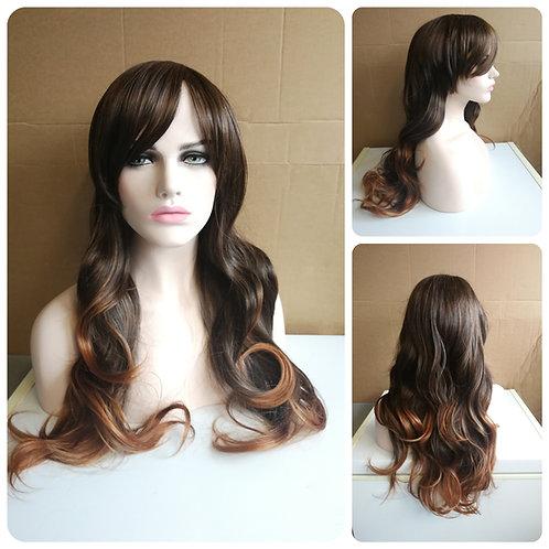 75 cm dark brown ombre wig